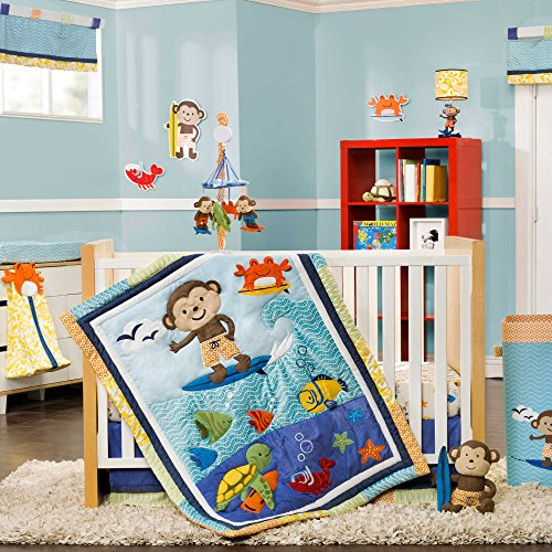 Laguna Monkey 4 Piece Baby Crib Bedding Set By Carters front-169407
