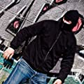 PG Wear Ninja Kapuzenjacke Black Zipper in schwarz von S-3XL