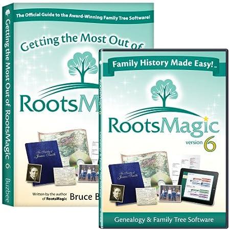 RootsMagic 6 Family Tree Genealogy Software / Book Bundle