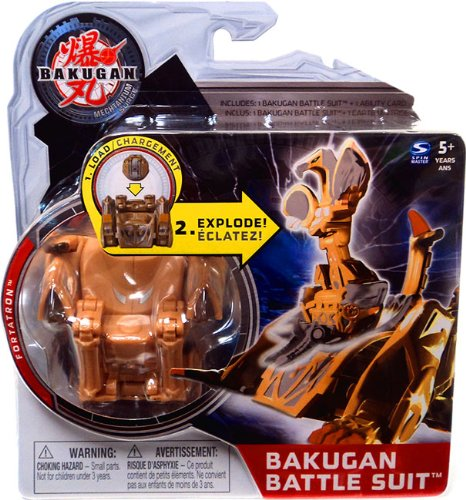 Bakugan Mechtanium Surge Battle Suit Brown Fortatron by Spin Master