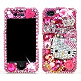 61jV7jox6yL. SL160  3D Swarovski Pink Hello Kitty Crystal Bling Case Cover for iphone 4 / 4S AT&T Verizon & Sprint