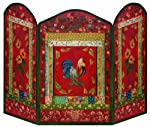 Stupell Industries Red Rooster 3-panel Decorative Fireplace Screen from Stupell Industries
