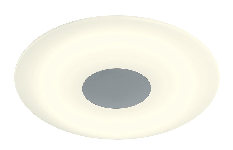 WOFI Deckenleuchte 1-flammig, Serie Sila, 1 x LED, 40 W, Höhe 9.5 cm, Durchmesser 45 cm, Kelvin 3000, Lumen 2500, nickel matt 9350.01.64.0400