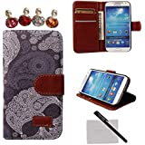 xhorizon® New Floral Leaf Style Wallet Folio Flip Magnet Stand Leather Case Cover with Credit Card Holder for Apple iPhone 4S 5S Samsung Galaxy S3 S4 S5 Note3 with stylus and xhorizon cleaning cloth (Galaxy S4 i9500, #18)