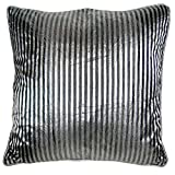 Homeblendz Polyester Stripe Grey/black 40x40 Cushion Cover - B00M86XRSQ