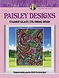 Marty Noble Creative Haven Paisley Designs Stained Glass Coloring Book (Creative Haven Coloring Books)