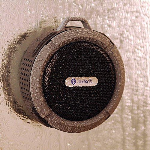 VicTsing? 防水屋外/屋内無線A2DPステレオのBluetooth3.0ハンズフリースピーカー内蔵マイク [並行輸入品] (ブラック)