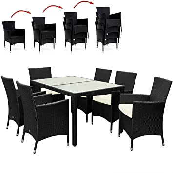 Poly Rattan Sitzgruppe Sitzgarnitur Gartengarnitur Gartenmöbel Gartenset 6+1