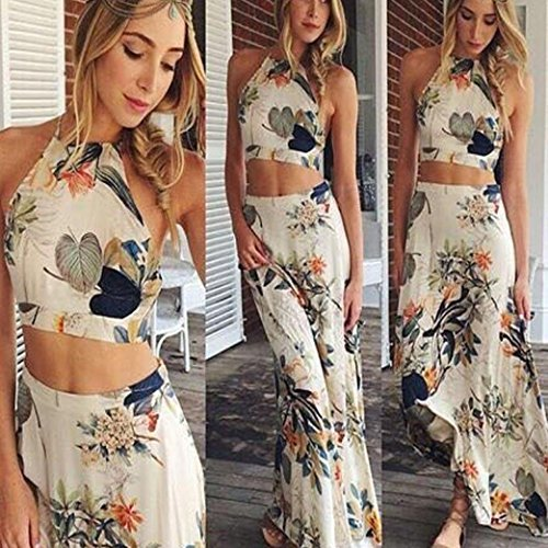 Sunfei Sexy Women Summer Halterneck Maxi Long Dress (S)