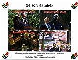 Nelson Mandela sellos conmemorativos para coleccionistas - Celebración de la vida y la muerte del primer presidente negro de Sudáfrica. Con el presidente Barack Obama - Mint NH - condiciones Superb - 2013 / Congo / 750F