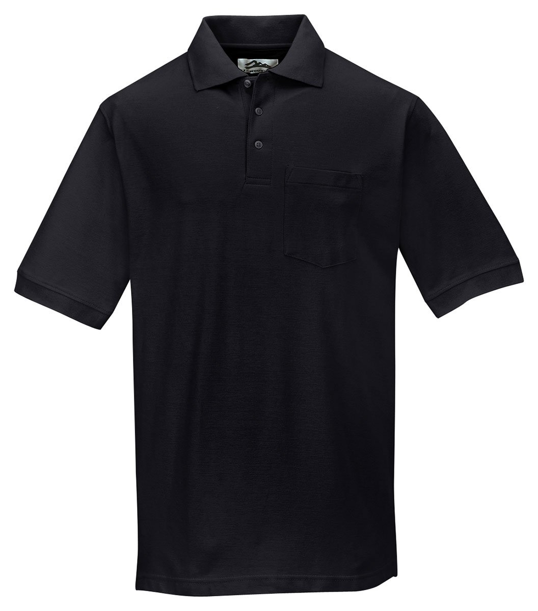 Polo Pique Cotton Tri Mountain Mens Shirt