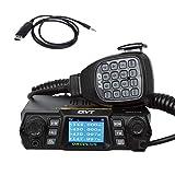 QYT KT-980 Plus 144/430MHz Dual-Band Amateur FM Base Transceiver 50 Watts 200 Channels Ham Mobile Radio, with Cable