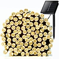 ADDLON Solar LED String lights(10-clip included) decorative lighting,72ft(22m) 100 LED 8work Modes,Ambiance Fairy String light for Outdoor,Indoor Decor,Outside Garden, Patio, Home, Wedding party, Holiday Seasonal Decorations, Christmas party,Waterproof(Wa