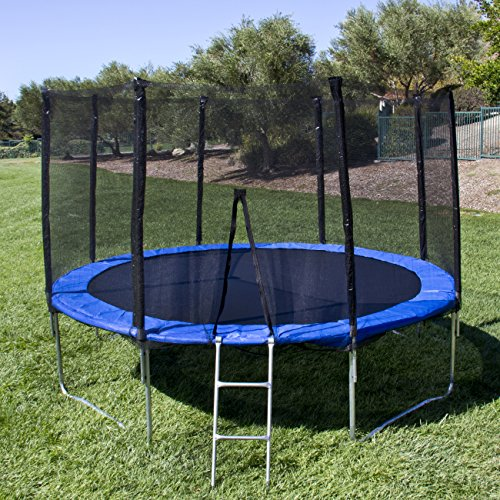Best-Choice-Products-12-Round-Trampoline-Set-With-Safety-Enclosure-Padding-Ladder
