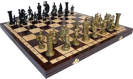 Chessebook - Jeu d'échecs en bois avec mallette SPARTAN 49 cm