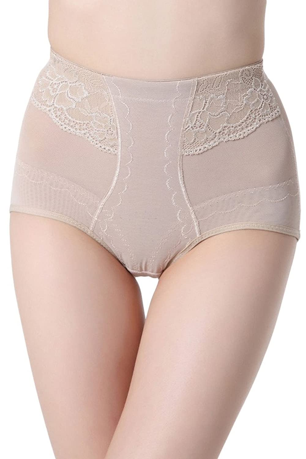 Lukis Hoher Taille Miederslip Spitze Transparent Slim Slip Panty