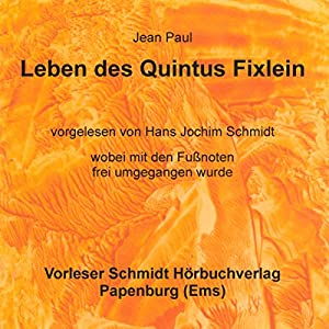 Leben des Quintus Fixlein Hörbuch