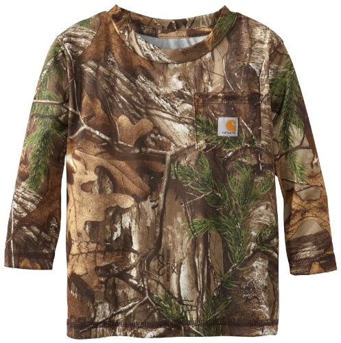 Carhartt Baby-Boys Infant Work Camo Pocket T-Shirt, Brown, 24 Months front-961303