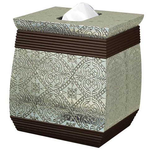 nu steel Boutique Tissue Holder, Silver Resin/Oil Rubbed Bronze