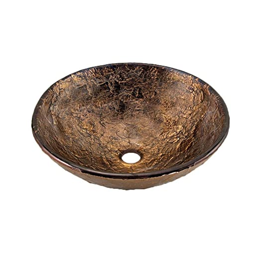 "JSG Oceana 005-003-010 16"" Vessel Sink, Cobalt Copper"