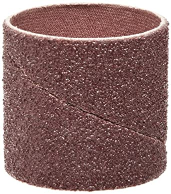 "3M Cloth Band 341D, Aluminum Oxide, 1-1/2"" Diameter x 1-1/2"" Width, 50 Grit (Pack of 100)"