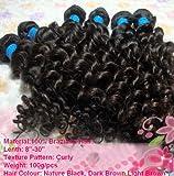AAA+ Virgin Brazilian Remy Human Hair Extension Curly 100g 24