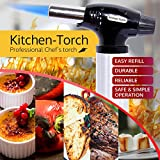 Kitchen Torch - Culinary Torch + Free a Food Thermometer. Professional Chef's set Ideal for Creme Brulee, Cooking , Baking , Desserts , BBQ , Meat, grill - Butane Torch Jet Lighter and a Recipes Ebook