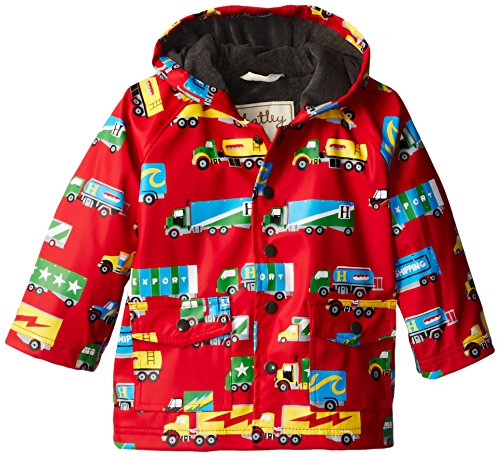 Hatley Little Boys' Little Boys' Raincoat Big Rig Trucks, Red, 3 front-1013401