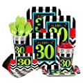 Chevron Mix 30Th Birthday Standard Kit (Serves 8)