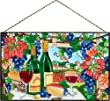 Joan Baker Designs Ap396 Wine Country Glass Art Panel 16 By 10-inch by Joan Baker Designs