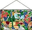 Joan Baker Designs Ap396 Wine Country Glass Art Panel 16 By 10-inch by Joan Baker Designs