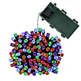 Qedertek Christmas String Lights 52.5ft 200 LED Battery Powered Fairy lights for Indoor/Outdoor Home, Curtain, Patio, Lawn, Garden, Party, Wedding, Seasonal Holiday, and Christmas (Multi-color)