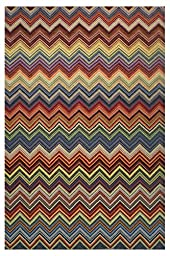 LA Rug Botticelli Abstract Geometric Area Rug (5 by 8 Foot) 601-90-0508
