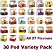 "38 POD DOLCE GUSTO PODS ""EVERY FLAVOUR"" VARIETY PACK - 1x each flavour"