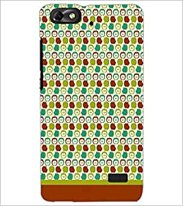 PrintDhaba Pattern D-1619 Back Case Cover for HUAWEI HONOR 4C (Multi-Coloured)