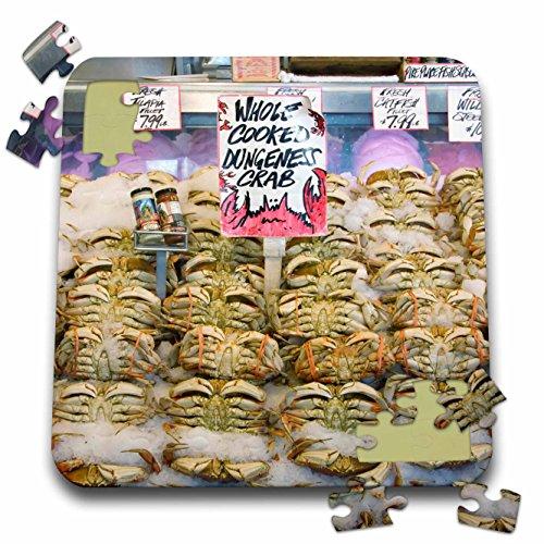 Danita Delimont - Markets - Washington, Seattle, Pike Place Market crab - US48 CSL0051 - Charles Sleicher - 10x10 Inch Puzzle (pzl_95284_2)