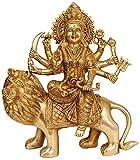 Exotic India Goddess Durga - Brass Sculpture