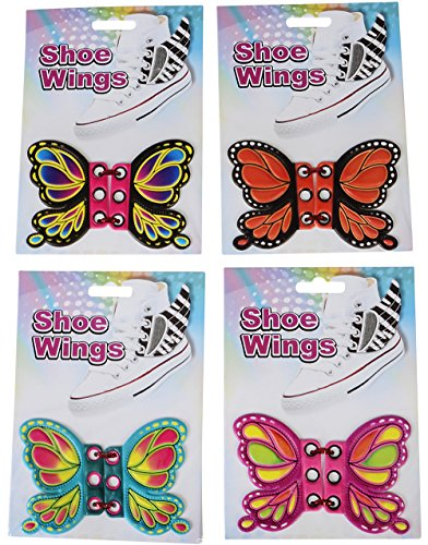 Dozen Butterfly Shoe Wings Shwings Lace Boot Sneaker Costume Accessory