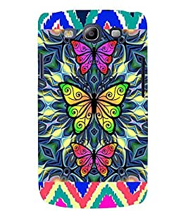 Printvisa Tripple Butterfly Pattern Back Case Cover for Samsung Galaxy S3 Neo::Samsung Galaxy S3 Neo i9300i