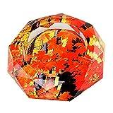 【Woliwowa】 美しい 紅葉 もみじの 葉 デザイン ガラス製 灰皿 [並行輸入品]