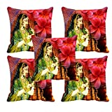 meSleep Queen Digitally Printed Cushion Cover (16x16) Set of 5