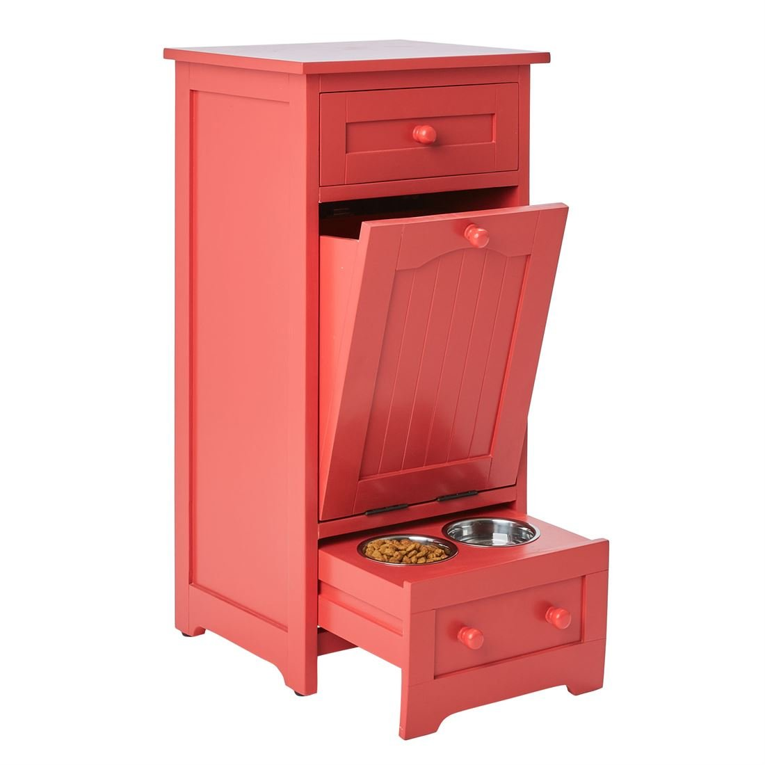 BrylaneHome Pet Food Storage Cabinet Paprika