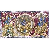 "Dolls Of India ""Krishna Leela"" Kalamkari Paintings On Cotton - Unframed (99.06 X 58.42 Centimeters)"