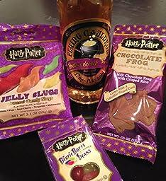 Harry Potter 4pc Gift Set - Butterbeer/Choc Frogs/Gummi Slugs/Bertie Botts