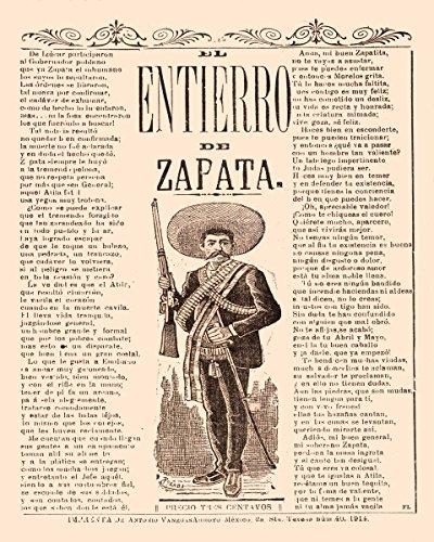 11×14″Decoration poster.Interior design.Room art.Entierro de Zapata.Mexico.7118