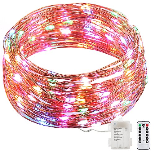 8-Modes-String-Lights-GDEALER-33ft-100LED-Copper-Wire-Starry-String-Lights-Battery-Powered-with-Remote-Control-for-Outdoor-Indoor-Wedding-Christmas-Party-multi-colorBattery-NOT-INCLUDED