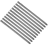 uxcell 10pcs 150mm 1/4 inches Hex Shank 6mm PH2 Magnetic Phillips Head Screwdriver Bits S2 High Alloy Steel (Tamaño: H1/4*150L*6*PH2 10Pcs)