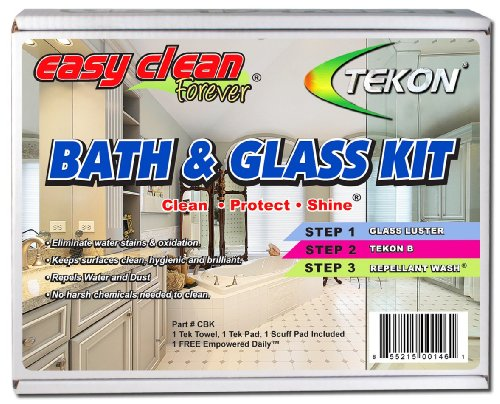 Tekon - Easy Clean Forever® Bath and Glass Kit - Complete Do-It-Yourself Cleaner/Protector Sealant Treatment (Shower Glass Door Protector compare prices)