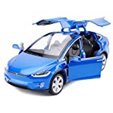 Toy Car Alloy Pull Back Cars with Sound and Light Kids Toys 1:32 Scale Model X 90 (Blue) (Color: Blue)
