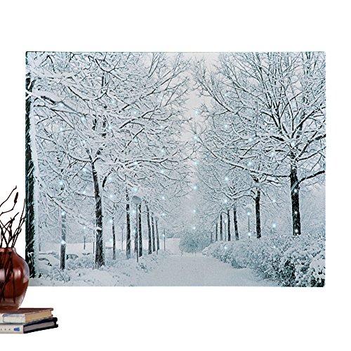 Fiber Optic Winter Wonderland Canvas Wall Art